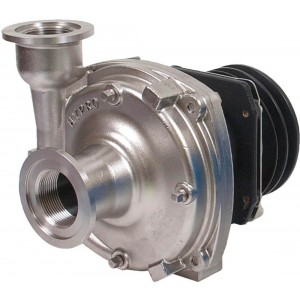 "Gear Driven Stainless Steel Centrifugal Pump with 1-1/2"" NPT Inlet x 1-1/4"" NPT Outlet"