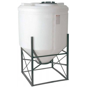 300 Gallon Cone Bottom Tank w/ Stand