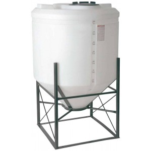 200 Gallon Cone Bottom Tank w/ Stand