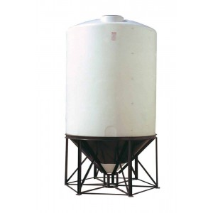 2600 Gallon Cone Bottom Tank w/ Stand