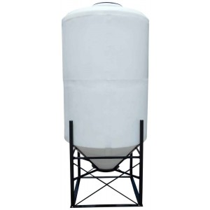 350 Gallon Cone Bottom Tank w/ Stand