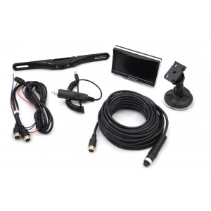 "5"" Monitor & Heavy Duty License Plate Camera System"